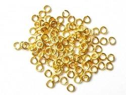 100 anneaux 3 mm dorés