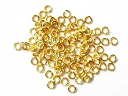 100 goldfarbene Biegerine, 3 mm