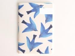 Carnet oiseaux bleus Season...