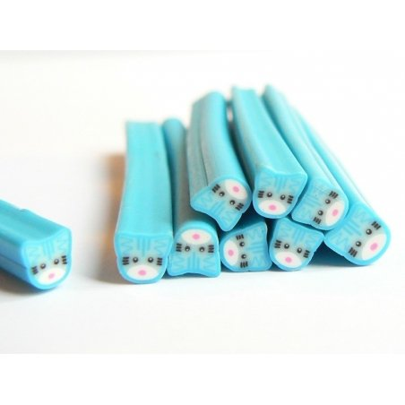 Acheter Cane en pâte fimo - chat bleu en pâte fimo - à découper en tranches - 0,99€ en ligne sur La Petite Epicerie - Loisir...