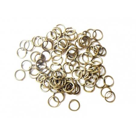 Acheter 100 anneaux 6 mm couleur bronze - 2,99€ en ligne sur La Petite Epicerie - Loisirs créatifs
