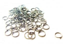 100 bronzefarbene Biegerine, 7 mm