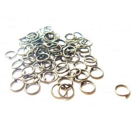 Acheter 100 anneaux 7 mm couleur bronze - 2,99€ en ligne sur La Petite Epicerie - Loisirs créatifs