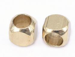 Acheter 20 perles cubes aux bords arrondis - laiton sans placage - 2,5 mm - 0,69€ en ligne sur La Petite Epicerie - 100% Loi...
