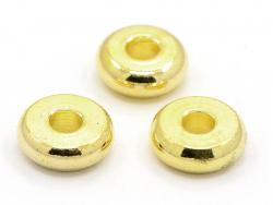 Acheter 20 perles rondelles heishi arrondies en laiton doré - 6x2 mm - 3,19€ en ligne sur La Petite Epicerie - 100% Loisirs ...