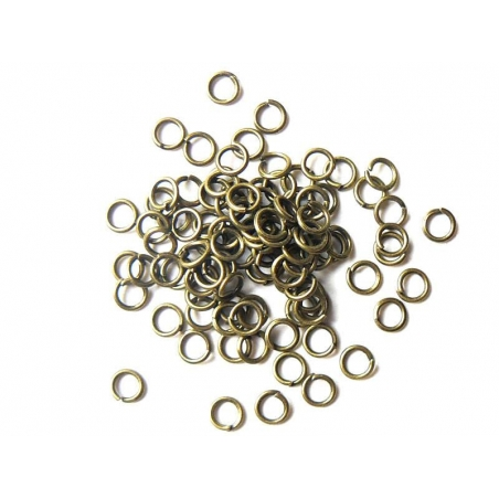 100 anneaux 5 mm couleur bronze  - 2