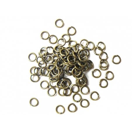100 bronze-coloured jump rings