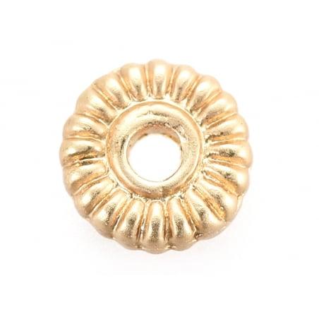Acheter Perle rondelle ethnique - plaqué à l'or fin mat - 5x1,5 mm - 0,69€ en ligne sur La Petite Epicerie - 100% Loisirs cr...