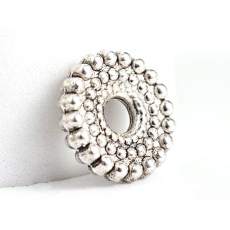 Acheter 20 perles rondelles ethniques argentées - intercalaires heishi - argent foncé 9 mm - 1,99€ en ligne sur La Petite Ep...