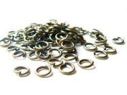 100 anneaux 5 mm couleur bronze  - 1