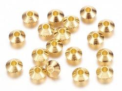 Acheter 20 perles rondelles toupies ciselées en laiton doré - 4 mm - 1,19€ en ligne sur La Petite Epicerie - 100% Loisirs cr...