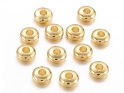 Acheter 20 perles rondelles arrondies en laiton doré - 5 mm - 1,59€ en ligne sur La Petite Epicerie - 100% Loisirs créatifs