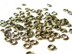 100 anneaux 3 mm couleur bronze