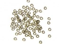 100 bronzefarbene Biegeringe, 3 mm