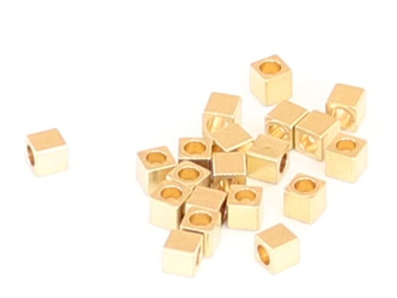 Acheter 20 perles cubes en laiton sans placage - 3 mm - 1,19€ en ligne sur La Petite Epicerie - Loisirs créatifs