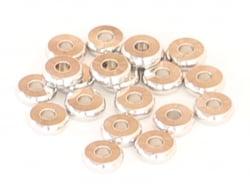 Acheter 20 perles rondelles heishi arrondies argentées - 6x2 mm - 3,19€ en ligne sur La Petite Epicerie - 100% Loisirs créatifs