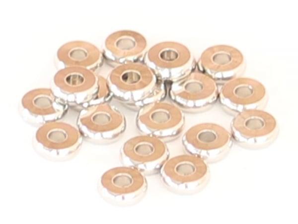 Acheter 20 perles rondelles heishi arrondies argentées - 6x2 mm - 3,19€ en ligne sur La Petite Epicerie - Loisirs créatifs