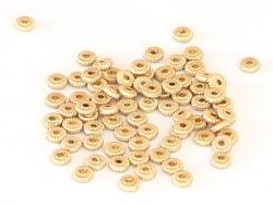 Acheter Perle rondelle ethnique - plaqué à l'or fin mat - 5x1,5 mm - 0,69€ en ligne sur La Petite Epicerie - Loisirs créatifs