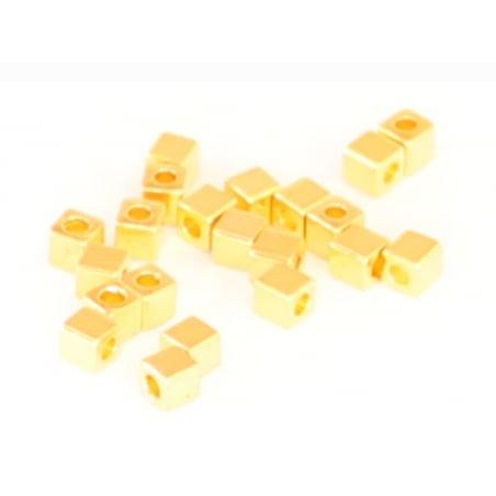 Acheter 20 perles cubes en laiton doré - 3mm - 1,49€ en ligne sur La Petite Epicerie - Loisirs créatifs