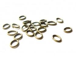 20 anneaux  ovales 5 x 3 mm couleur bronze