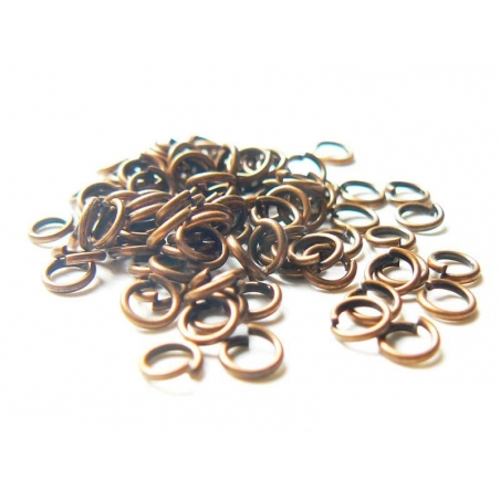 Acheter 100 anneaux 4 mm cuivrés - 2,99€ en ligne sur La Petite Epicerie - 100% Loisirs créatifs