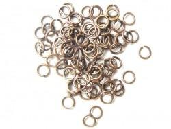 100 anneaux 6 mm cuivrés