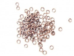 100 copper-coloured jump rings, 3 mm