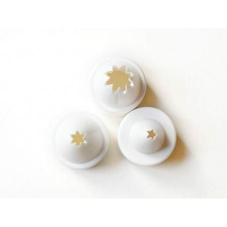 3 Sahnespritztüllen von PADICO - in den Größen S, M, XL