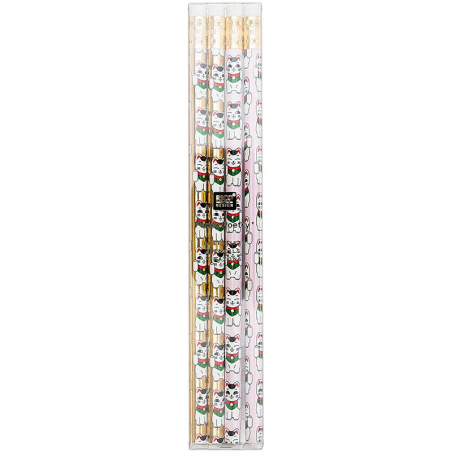 Acheter Boite de 4 crayons à papier motif chat porte bonheur- Rico Design - 4,99€ en ligne sur La Petite Epicerie - Loisirs ...