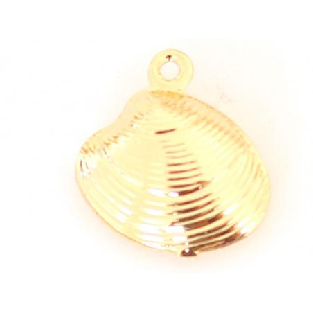 Acheter Pendentif coquillage palourde - laiton plaqué à l'or fin 18K - 0,99€ en ligne sur La Petite Epicerie - Loisirs créatifs