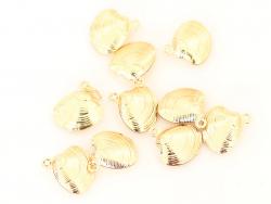 Acheter Pendentif coquillage palourde - plaqué à l'or fin 18K - 0,99€ en ligne sur La Petite Epicerie - Loisirs créatifs