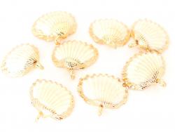 Acheter Pendentif coquillage coquille 30 mm- bordure dorée - 2,59€ en ligne sur La Petite Epicerie - 100% Loisirs créatifs