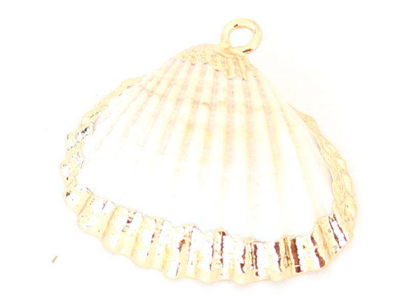 Acheter Pendentif coquillage coquille 25 mm- bordure dorée - 1,99€ en ligne sur La Petite Epicerie - 100% Loisirs créatifs