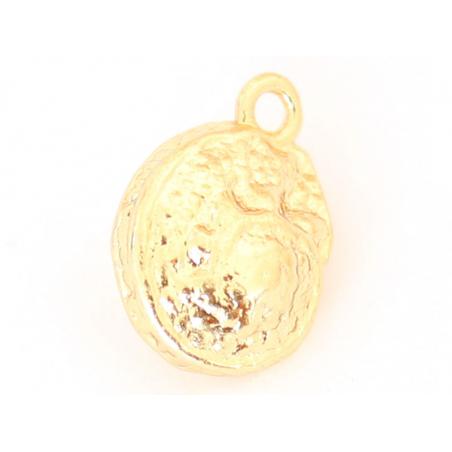 Acheter Breloque coquillage 12 mm- laiton plaqué or fin 18K - 1,79€ en ligne sur La Petite Epicerie - 100% Loisirs créatifs