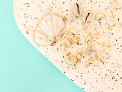 Acheter Pendentif coquillage 18 mm - laiton doré - 0,79€ en ligne sur La Petite Epicerie - Loisirs créatifs