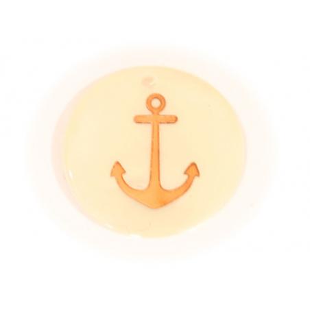 Acheter Pendentif nacré - ancre marine dorée - 0,59€ en ligne sur La Petite Epicerie - 100% Loisirs créatifs