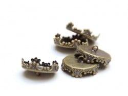 Acheter 1 pendentif pour bulle 12 mm - couleur bronze - 1,29€ en ligne sur La Petite Epicerie - 100% Loisirs créatifs
