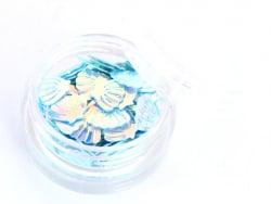 Acheter Petit pot de paillettes en forme de coquillages bleus irisés - 1,99€ en ligne sur La Petite Epicerie - Loisirs créatifs