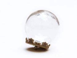1 set bulle en verre 12mm et son pendentif