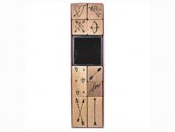 Acheter Kit de 9 tampons + 1 encreur noir - Flèches & coeurs - 9,29€ en ligne sur La Petite Epicerie - Loisirs créatifs