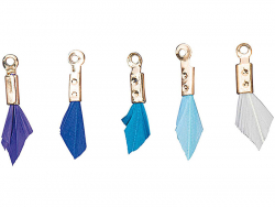 Acheter 5 breloques mini-plumes - tons bleus - 4,69€ en ligne sur La Petite Epicerie - Loisirs créatifs