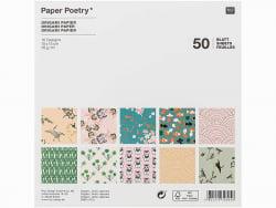 """Acheter 50 feuilles de papier Origami """"Jardin Japonais"""" - Rico Design - 6,19€ en ligne sur La Petite Epicerie - 100% Loisirs..."""