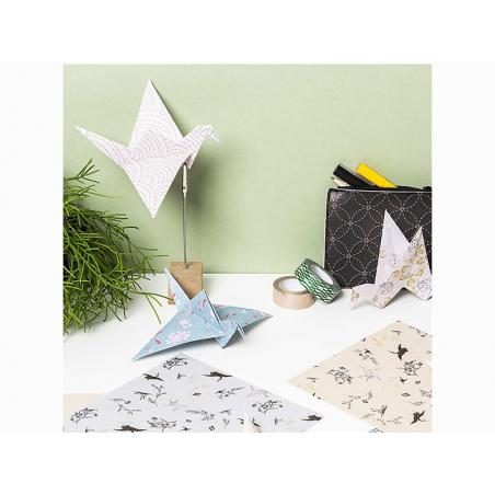 """Acheter 50 feuilles de papier Origami """"Jardin Japonais"""" - Rico Design - 5,80€ en ligne sur La Petite Epicerie - Loisirs créa..."""