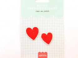 Acheter Patch thermocollant - Double coeur - 3,99€ en ligne sur La Petite Epicerie - 100% Loisirs créatifs