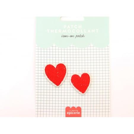 Acheter Patch thermocollant - Double coeur - 3,99€ en ligne sur La Petite Epicerie - Loisirs créatifs