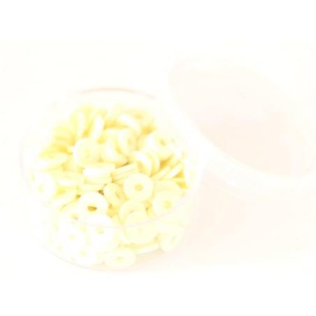 Acheter Boite de perles rondelles heishi 6 mm - ivoire - 1,99€ en ligne sur La Petite Epicerie - Loisirs créatifs