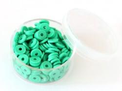 Acheter Boite de perles rondelles heishi 6 mm - vert plante - 1,99€ en ligne sur La Petite Epicerie - 100% Loisirs créatifs