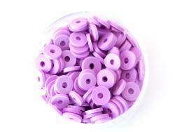 Acheter Boite de perles rondelles heishi 6 mm - violet - 1,99€ en ligne sur La Petite Epicerie - 100% Loisirs créatifs