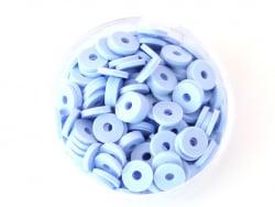 Acheter Boite de perles rondelles heishi 6 mm - bleu pastel - 1,99€ en ligne sur La Petite Epicerie - Loisirs créatifs