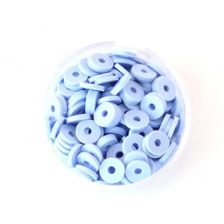 Acheter Boite de perles rondelles heishi 6 mm - bleu pastel - 1,99€ en ligne sur La Petite Epicerie - 100% Loisirs créatifs